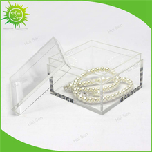 Hot sale High Quality Clear Acrylic Cube Square Storage Box With Lid Stand Display Container