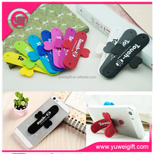 2015 advertising items hot selling sticky gel phone holder & touch U