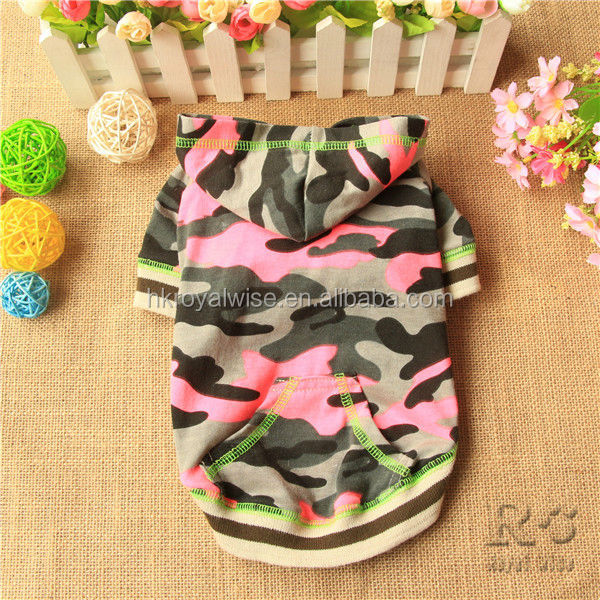 Custom Made Print Poly Cotton Fleece Dog Hoodies Wholesale in Mixed Colors