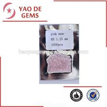 Round Cut 1.25mm Nano Gmes, Pink Precious Synthetic Wax Casing Nao Stone