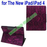 Lady Lace Texture Leather Case Colors Custom for ipad 2/3/4 Tablet Case with Holder