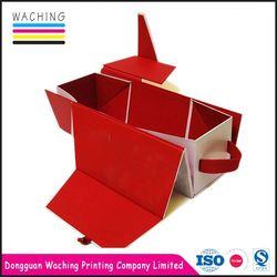 Latest product novel design paperboard leather wine carrier box fine workmanship