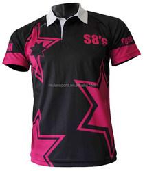 Sublimation Polo Tee Shirt for Tennis & Badminton & School Uniform