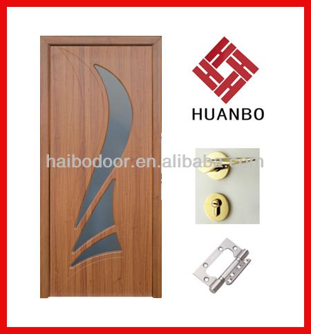 El ltimo dise o de pvc mdf puertas interiores de madera for Diseno de puertas de madera para recamaras