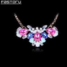 chunky gold plated butterfly acrylic resin crystal statement necklace for woman