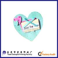 professional printing custom heart shape greeting card