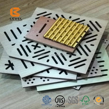 Hall Soundproof Decoration MDF Perforated Timber Acoustic Panels Building Ceiling Construction Project