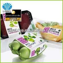 factory price custom adhesive supermarket use fruit and vegetable packaging label sticker