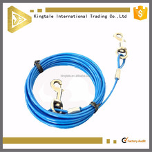 PVC coated dog tie-out cable