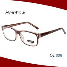 Square eye frame reading glasses branded high power eyewear unisex eyeglasses