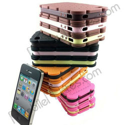 new design mobile phone case For iPhone 4 4G sandwich biscuit Case,bread back cover case for 4g