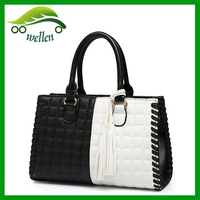 2015 fashion new design cheap women's leather tote handbag