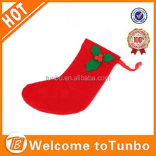 Christmas gift New Plush Christmas stocking red colour hot popular design