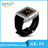 Aipker factory latest fashion touch screen T4 1.54 smart watch phone with camera