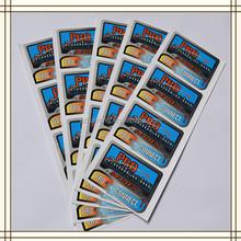 Silver hot stamping printing tag