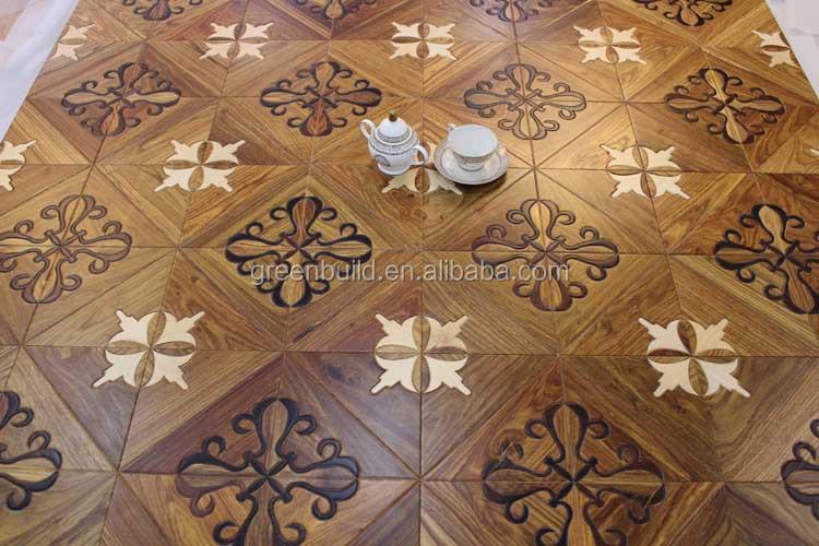 마호가니 쪽모이 세공 마루 바닥으로 마감되어-목재 바닥재 ...