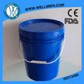 cubos de pintura de 20L FDA azul 100% la lata de pintura de plástico PP virgen