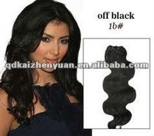 2012 hot sale cheap body wave human hair weft(hair weaving)