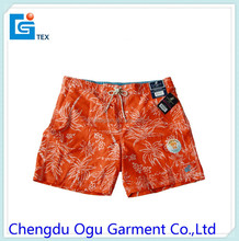 stylish quality 100% microfiber polyester board men swimming shorts