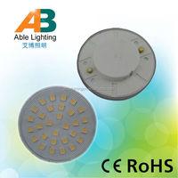 high bright 30 smd 5050 5w plastic 220v led spots light gx 53