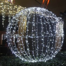 Large outdoor Christmas ball lighting for garden decoration