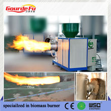 quemador de biomasa aserrín
