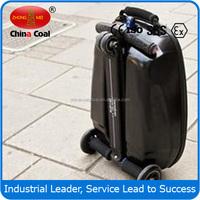 PC/EVA luggage 2 wheel self balance electric luggage scooter with 3 wheels