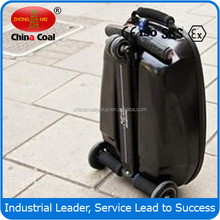 PC/EVA luggage 2 wheel self balance electric luggage scooter with 3 wheels