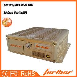 NEW 4ch HD Car DVR Vehicle 3G & GPS Police Car PTZ Camera Detector