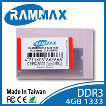 ETT DDR3 1333 4GB RAM SO-DIMM laptop notebook non ecc memory good quality /ddr1 ddr2 2gb 8gb for macbook