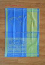 beatiful jacquard design on cotton towel