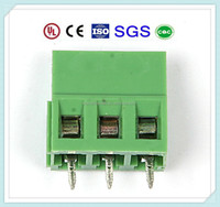 High Quality Green Plastic 5.08 5.0 7 PCB 2 Pin 3 Pin Terminal Block Connectors with UL, CE, ISO, SGS,CQC Approved