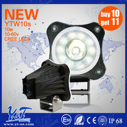 top selling 10w round work light bullet light 5 inch black volor to bike