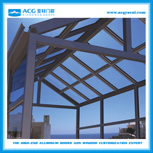 2015 China supplier cheap and durable and modern aluminium alloy winter garden sunlight room made of square tube and glass