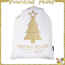 Gold tree printed christmas santa sack FGCS-0020