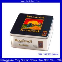 Rectangular food grade cookie tin box/tin container for cookie/decorative cookie tin box