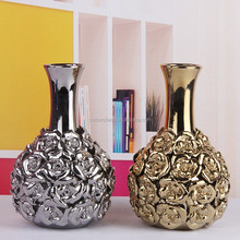 wholesale modern flower vase plated for wedding decor