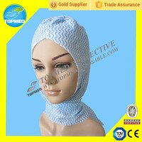 Protective medical disposable head cover with face mask.food processing use