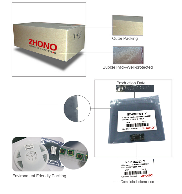 Zhono Compatible Replace High Quality Toner Cartridge Chips For ...
