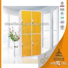 Metal School Furniture CKD 4 Door Custom Made Steel Closet Locker/Steel Cupboard Design
