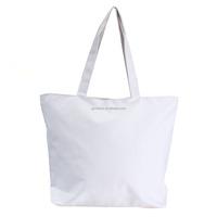 3 Colors Women Shopping Canvas Bags Zipper Eco Versatile Shoulder Sack Tote Summer Holiday Beach Messenger DIY Painting Handbag