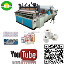 china hot selling rewinding and embossing toilet roll tissue machine supply