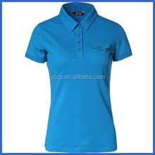 High stylish blank pocket t shirt wholesale for ladies