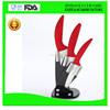 manufacturer 4pcs colored kitchen ceramic knife
