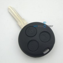3 button car remote key shell for Smart Fortwo remote key