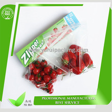 Best popular for fruit and vegetable piece packaging factory wholesale cheap food grade zip lock bag