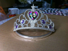 Newest good quality girls frozen elsa tiara crown with elegent style wholesale CWT2015