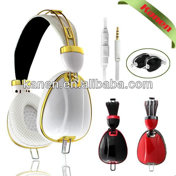 oem novo design flexível dobrável colorido em forma de diamante fone de ouvido estéreo fones de ouvido