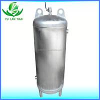 Household stainless steel water storage vessel