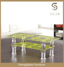 New model cheap glass metal coffee table C-366 for sale